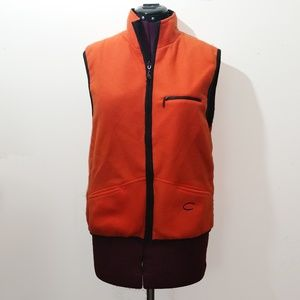 Orange Catalina Lined Fleece Vest. Size M.